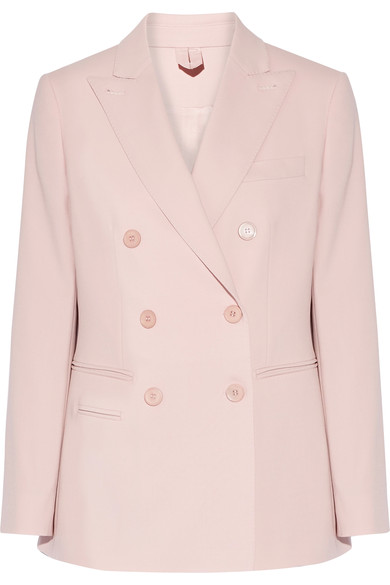 Max Mara Woman Derrik Double-breasted Stretch-wool Blazer Pastel Pink