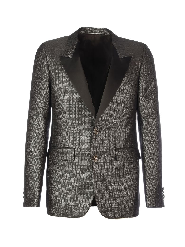 Givenchy Lurex Details Suit In Black Grey