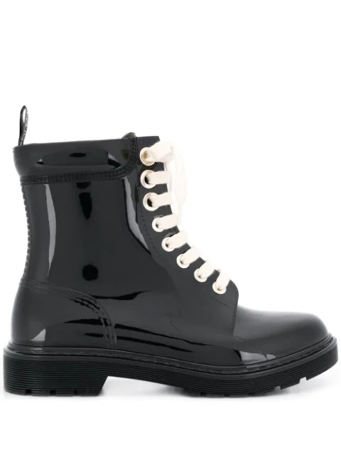 Sergio Rossi Women's Winter Jelly Platform Boots In Black