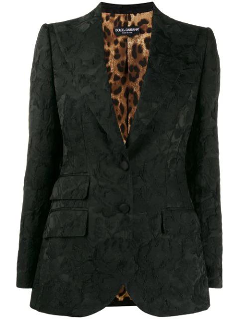 Dolce & Gabbana Jacquard Jacket In Black