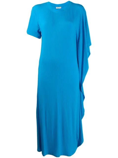 Aalto Asymmetric Jersey Dress - Blue