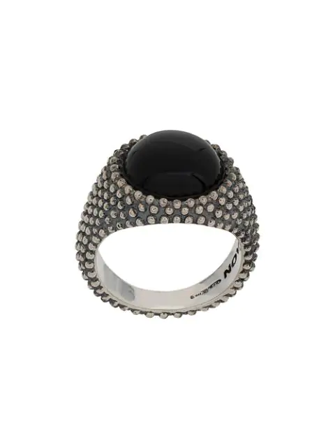 Nove25 Dome Construction Ring In Silver