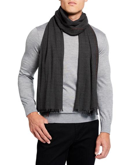 Loro Piana Men's Aberdeen Wool Scarf In Gray
