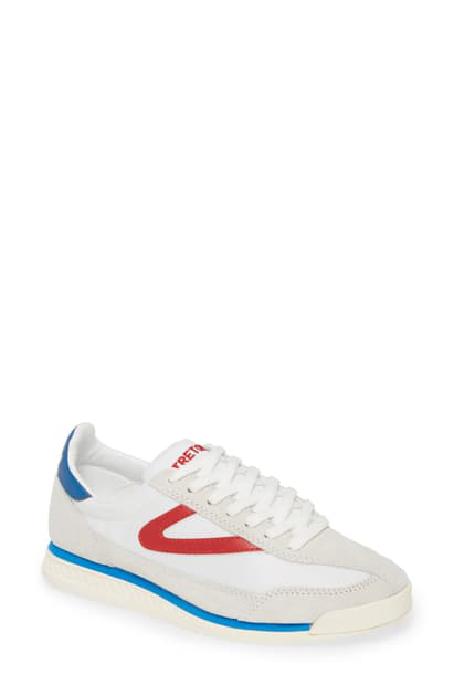 Tretorn Women's Rawlins 3 Sneakers In White/ Red/ Blue
