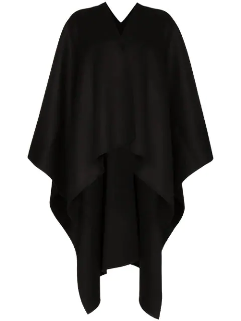 Joseph Dip-Hem Wrap Poncho In  Black