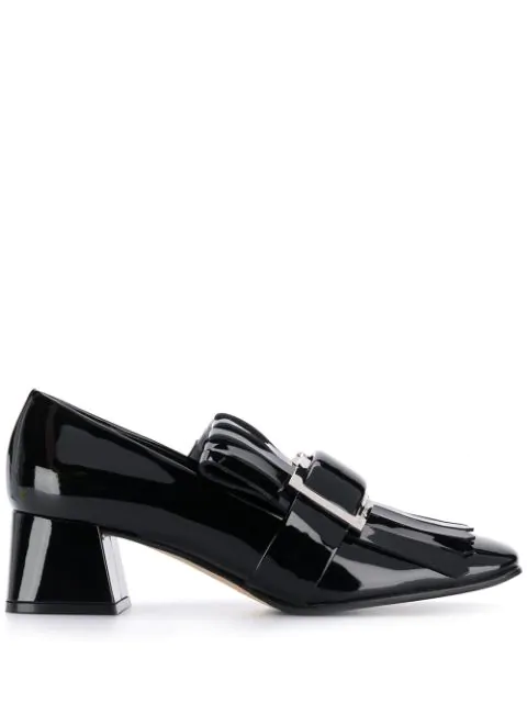 Sergio Rossi Prince Fringed Pumps In Black