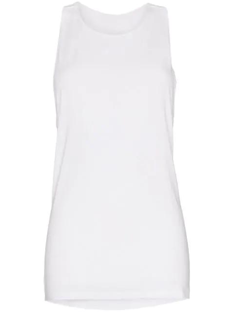 Nimble Activewear Twist-back Racer Tank Top In White
