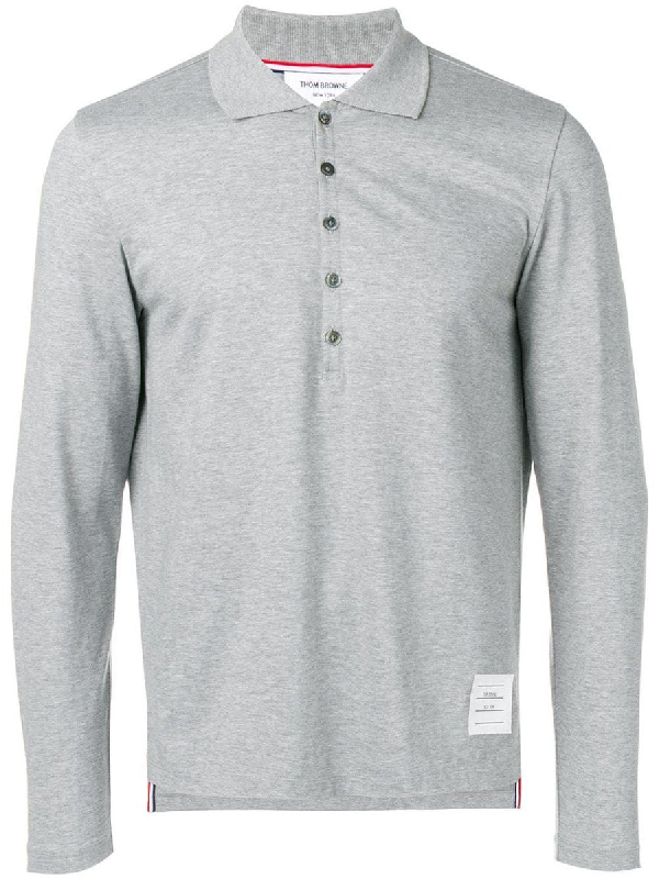 Thom Browne Long Sleeve Jersey Polo