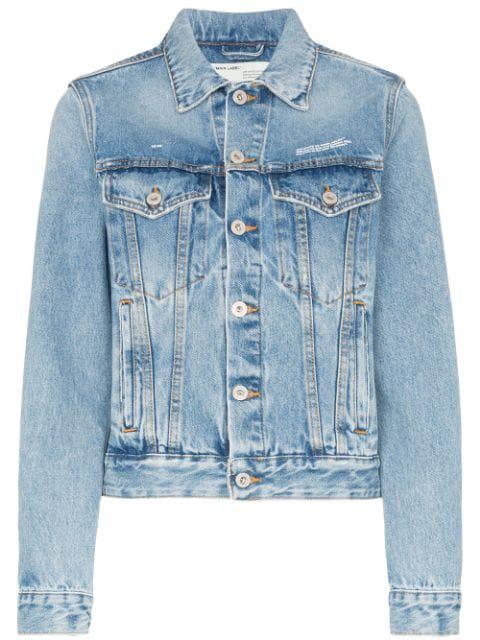 Off-White Diag Blue Denim Jacket