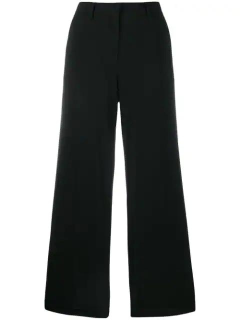 Max Mara Cropped Vertigo Trousers In Black