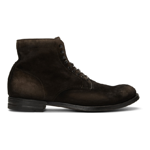 Officine Creative Brown Anatomia 13 Boots
