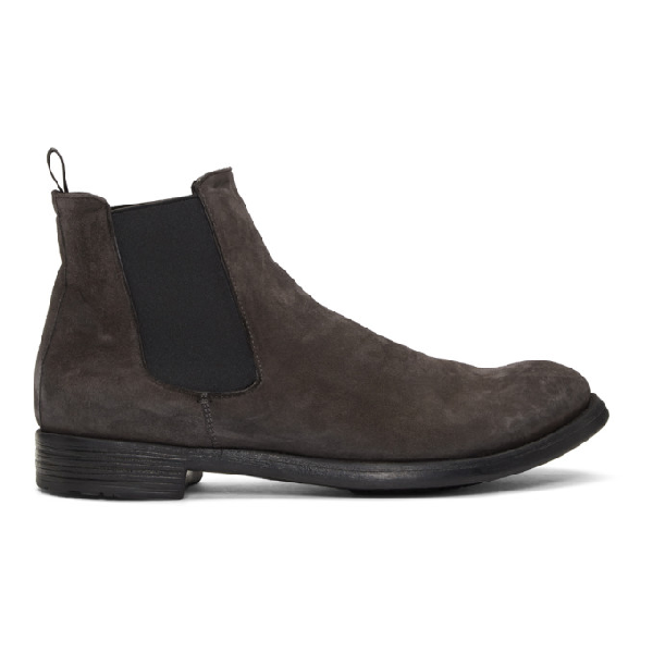 Officine Creative Grey Hive 007 Chelsea Boots In Lvngna Grey