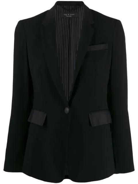 Rag & Bone Windsor Single-breasted Blazer In Black