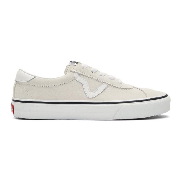 Vans White Suede Sport Sneakers