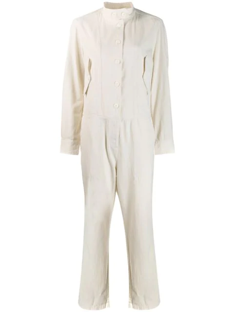 Rag & Bone Rag And Bone Off-White Morris Jumpsuit In Ivory