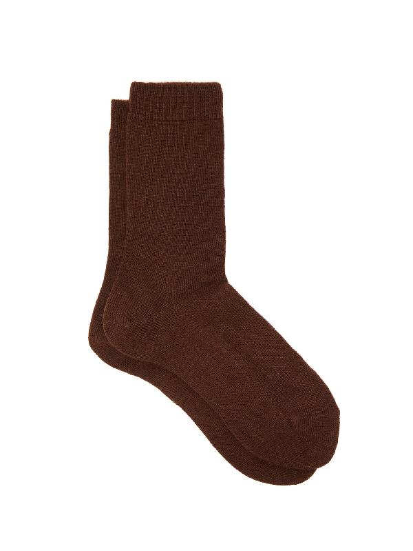 Falke Cosy Ankle Socks In Dark Brown