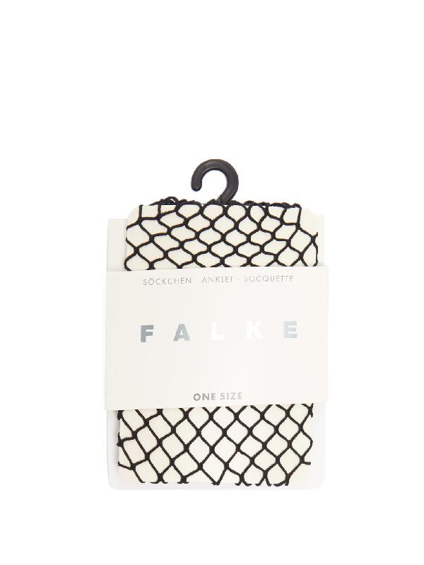 Falke Classic Fishnet Socks In Black