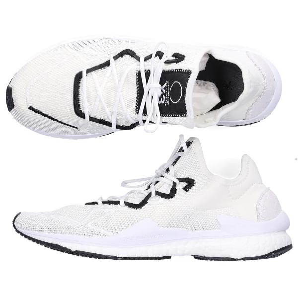 Y-3 Low-Top Sneakers Adizero Runner  Mesh Neoprene Logo Black In White