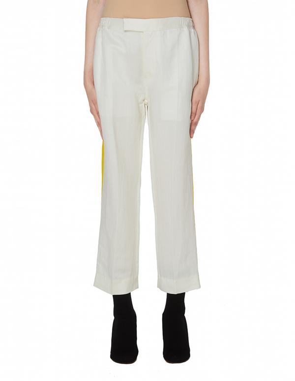 Haider Ackermann White & Yellow Striped Azul Trousers