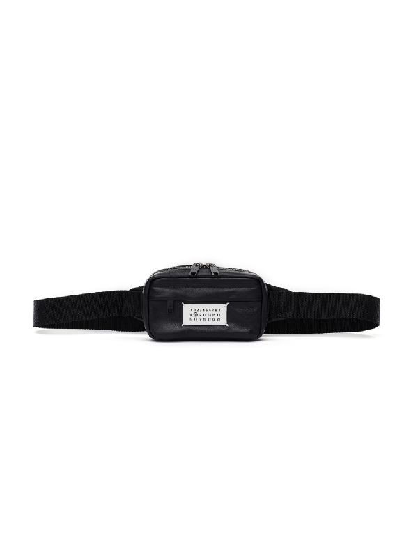 Maison Margiela Black Leather Belt Pack