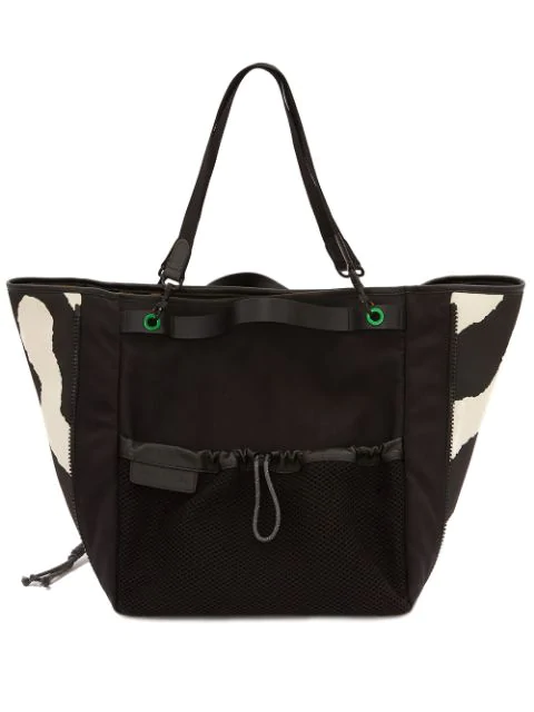 Jw Anderson Technical Fabric Tote Bag In Black