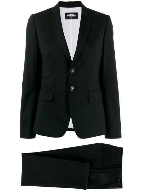 Dsquared2 Slim Fit Classic Suit In Black