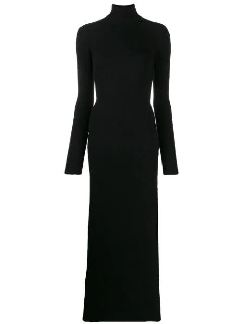 Marcelo Burlon County Of Milan Roll Neck Sweater Spiritualist Dress In Black