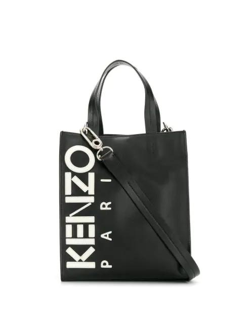 Kenzo Kontrast Tote Bag In 99 Nero