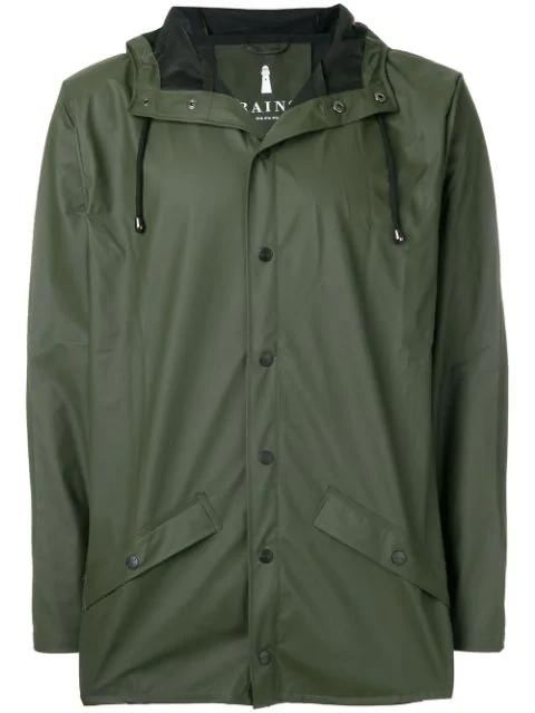 Rains Women's Hooded Mackintosh In Green
