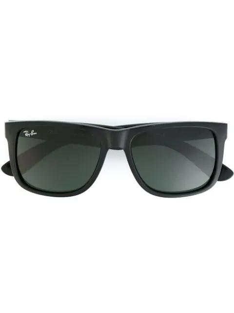 Ray Ban Rectangular Frame Sunglasses In 黑色