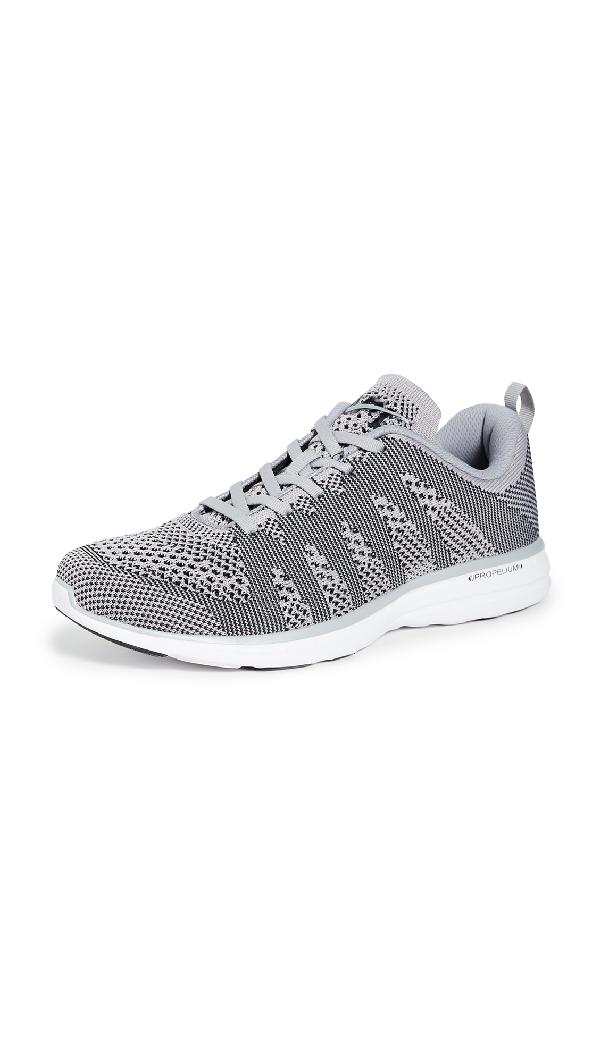 Apl Athletic Propulsion Labs Men's Techloom Pro Mesh Sneakers In Cement/White/Black