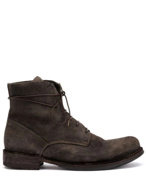 Officine Creative Lace Up Boots In Brown