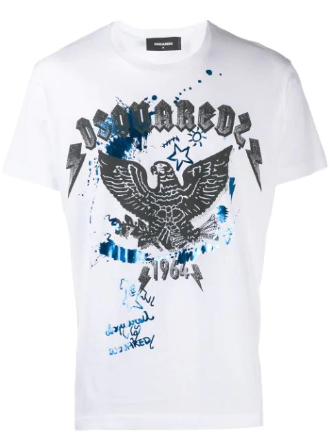 Dsquared2 Graphic T-shirt In White