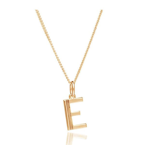 Rachel Jackson This Is Me E Alphabet Necklace - Gold