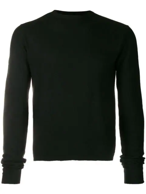 Rick Owens Oversized-sleeve Knitted Jumper In Black