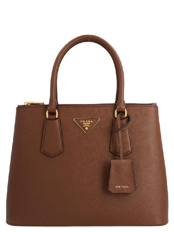 Prada Galleria Bag In Brown