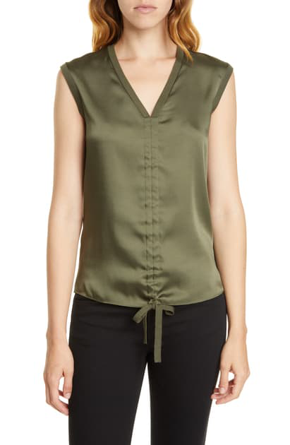 Ted Baker Ruched Polii Top In Green