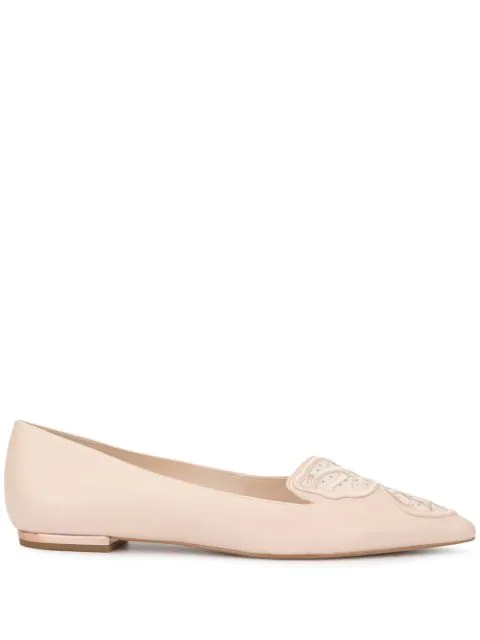 Sophia Webster Embroidered Ballerina Shoes In Dusty