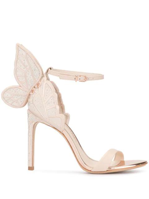 Sophia Webster Butterfly AppliquÉ Sandals In Pink