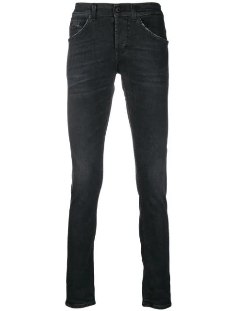 Dondup Slim Fit Jeans In Black