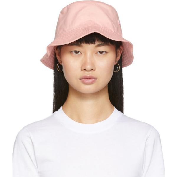 Acne Studios BlÅ Konst Alvy Cotton Twill Bucket Hat In Dusty Pink