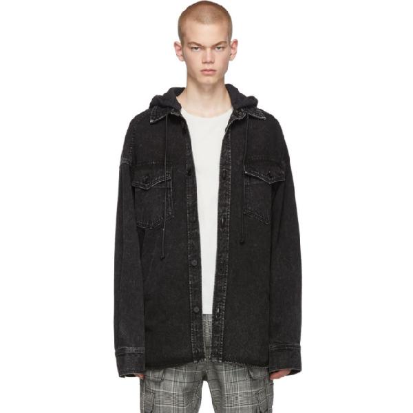 Juun.J Black Oversized Denim Jacket In 5 Black