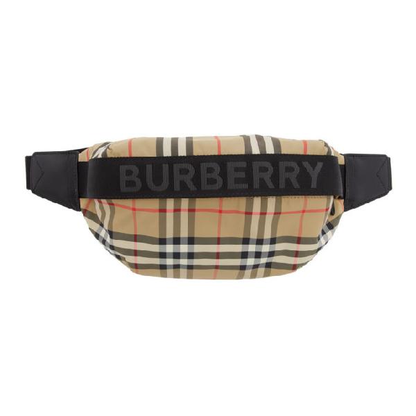Burberry Burberrry Medium Sonny Vintage Check Belt Bag - Beige In Archive Beige