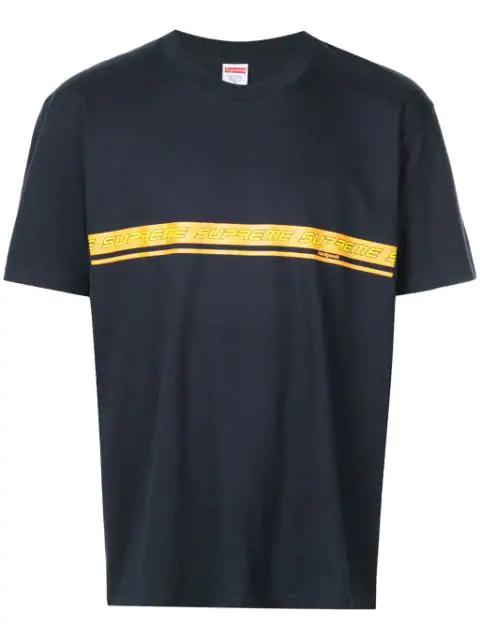 Supreme Logo T-shirt In Blue