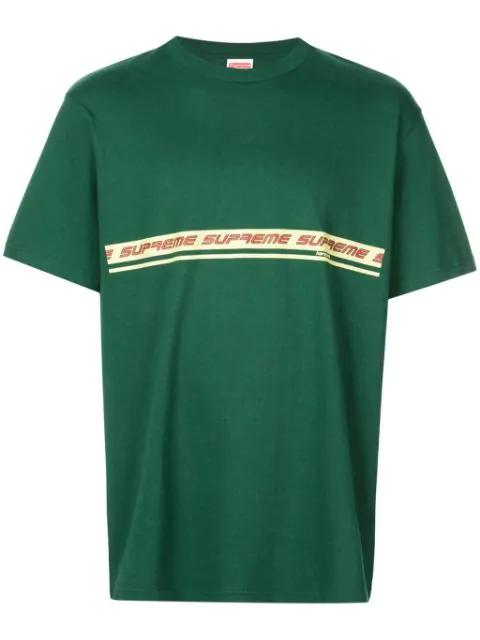 Supreme Logo T-shirt In Green