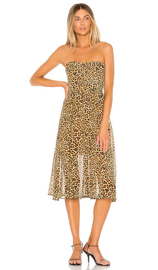 Lovers & Friends Marcus Midi Dress In Cheetah Print