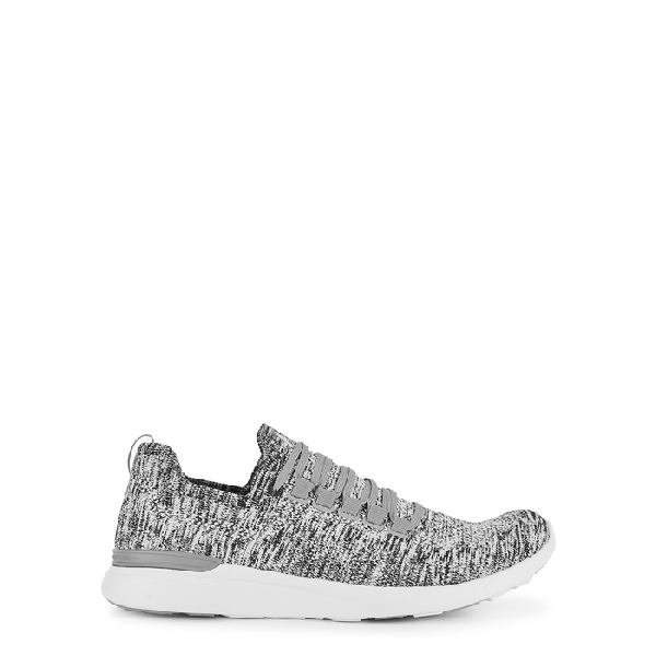 Apl Athletic Propulsion Labs Techloom Breeze Grey Knitted Sneakers