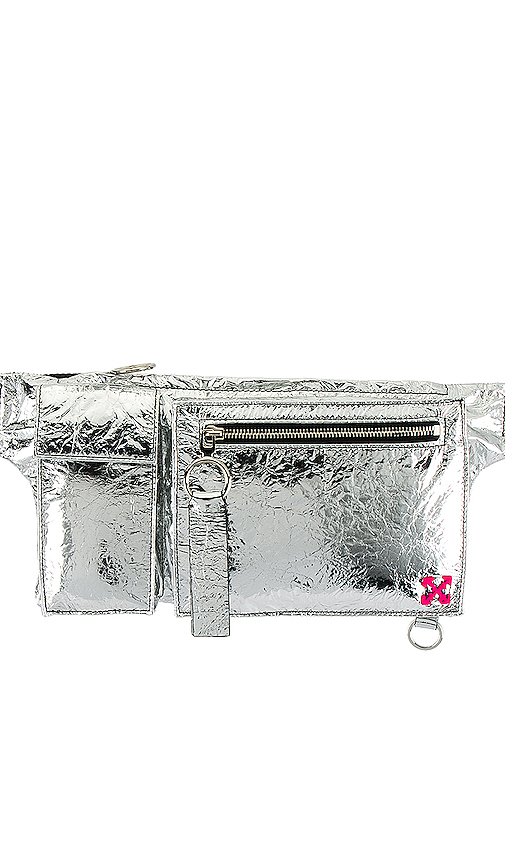 Off-white Pockets Fanny Pack In Silver