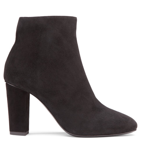Giuseppe Zanotti Suede Square-Toe Ankle Boots In Black