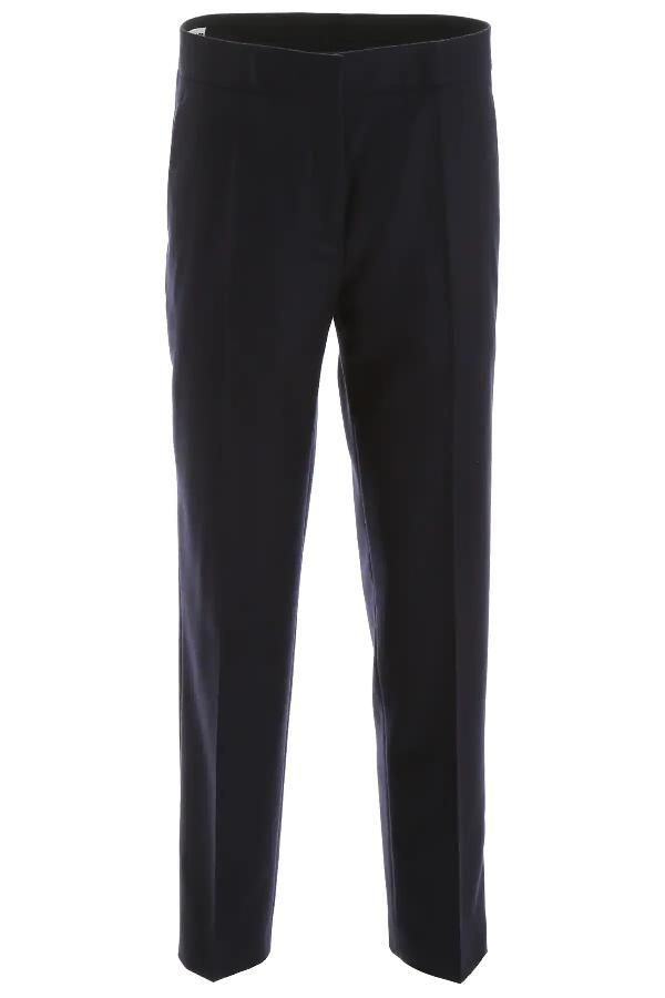 Jil Sander Wool Trousers In Blue